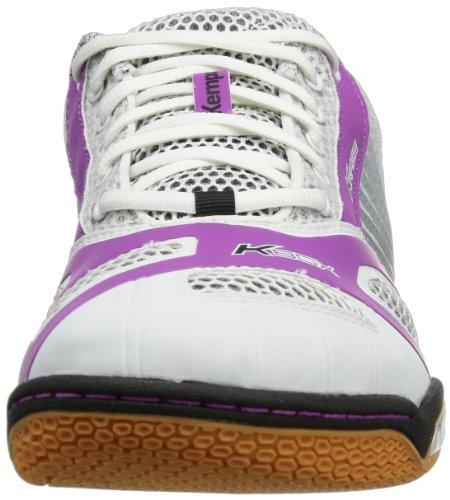 Kempa Hurricane Women (Litetech Michelin), Chaussures de handball femme Blanc/Mauve/Argent