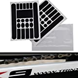 Homewind protezione base per bici, decalcomania Chainstay adesivi per bicicletta Bike MTB BMX mountain bike catena di bicicletta pieghevole telaio tape guard-transparent
