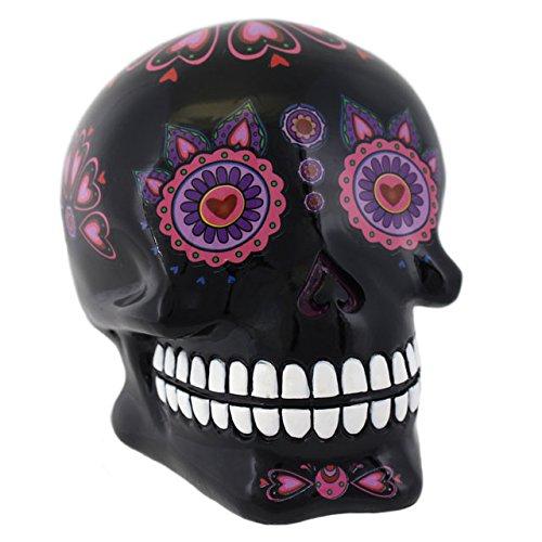Denaro Scatole salvadanaio dipinto il giorno dei morti teschio in Candy nero
