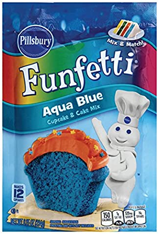 PILLSBURY FUNFETTI AQUA BLUE CUPCAKE & CAKE MIX 234g POUCH
