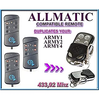 ALLMATIC ARMY1 / ARMY2 / ARMY4 Compatible Remote control / 433,92Mhz Clone