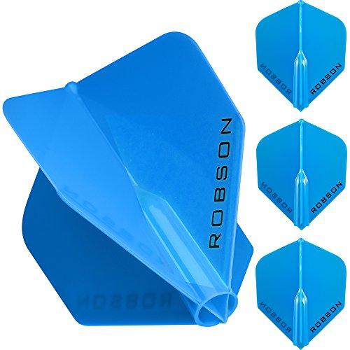 1Set-Robson Plus-Starke geformte Flights-Standard-Blau-mit Gratis Darts Ecke Checkout-Karte