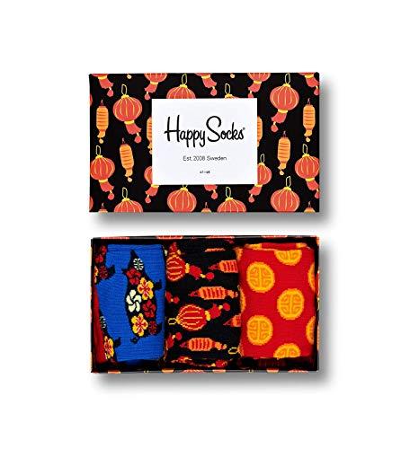 Happy Socks - Gemischt farbenfrohe Geschenkbox an Baumwollsocken fTMr M_nner und Frauen, Chinese New Year, 41-46 - Chinese