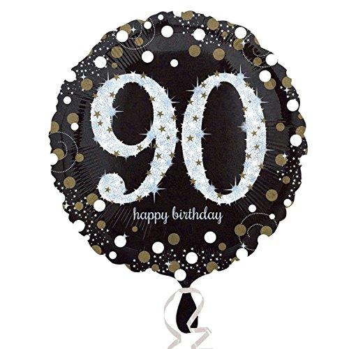 amscan 3374301Folie zum 90. Geburtstag Luftballons