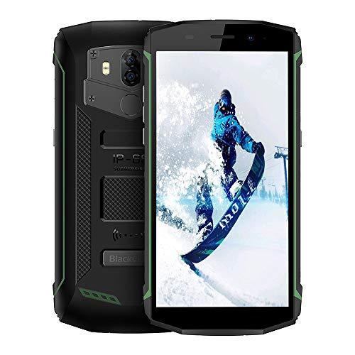 Blackview BV5800 4G Outdoor Handy mit IP68 Wasserdicht und Staubdicht, 5.5 Zoll 18: 9 Bildschirm, Android 8.1 2GB/16GB Quad Core, 5580mAh Schnellladung, Dual Rückkameras (Grün)