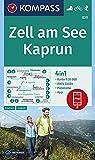 Zell am See, Kaprun: 4in1 Wanderkarte 1:35000 mit Aktiv Guide und Panorama inklusive Karte zur offline Verwendung in der KOMPASS-App. Fahrradfahren. Skitouren. (KOMPASS-Wanderkarten, Band 30)