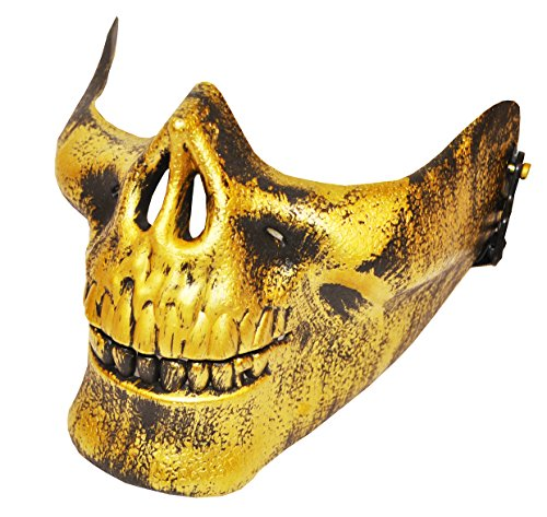 (Komonee Gold Half Skull Halloween Maske (HM27))