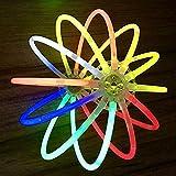 PowerBH 100PCS Glow Sticks Colorati Otto Colori Misti Portatili Glowstick Concerto Scuro Accessori per Feste per Halloween Decorazione per Feste di Natale