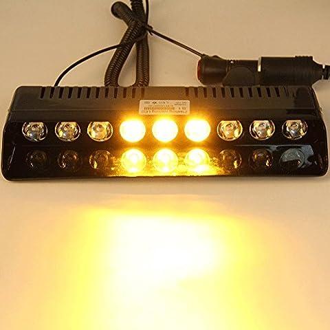 Shsyue® 9 LED Amber Emergency Vehicle Car Strobe Flash Light