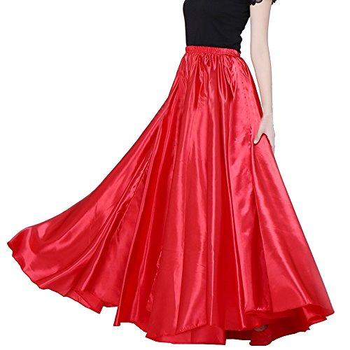 Bauchtanz-Satin langes Kleid Rock 90cm Gummibund Tribe entwerfen -
