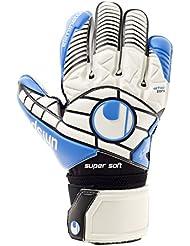 uhlsport Guantes Eliminator Super Soft, todo el año, unisex, color Varios colores - weiß/Schwarz/energy blau, tamaño 7,5