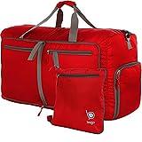 Reisetasche - diese faltbare, 85l große Reisetasche ist beständig, packbar, SUPERLEICHTE 410g mit abnehmbarem Schulterriemen - lässt sich in sich falten - am besten als Gepäck oder Sporttasche - VERMEIDEN SIE GEBÜHREN FÜR ÜBERGEPÄCK - 100% ZUFRIEDENHEITSGARANTIE (Red)