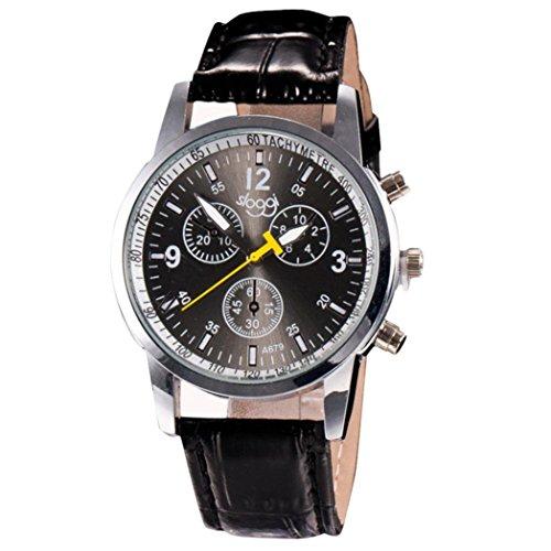 orologio da polso, JiaMeng ❀ Uomini, orologio da polso Di cuoio di lusso del coccodrillo di modo Faux Mens Analog...