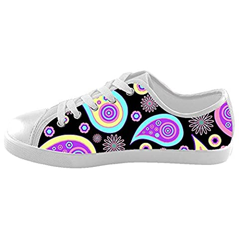 Dalliy Colored Paisley Print Kids Canvas Shoes Footwear Sneakers Shoes