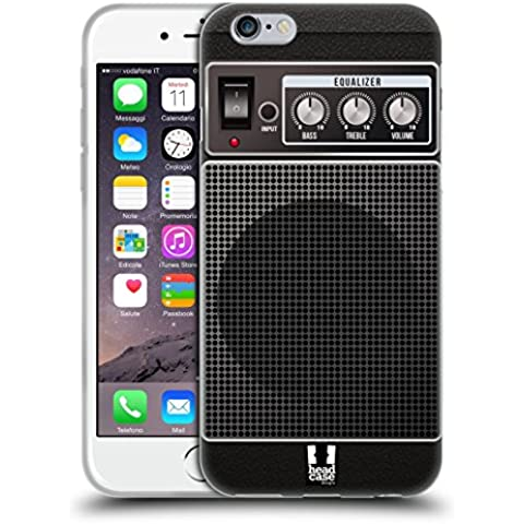 Head Case Designs Acustico Nero Amplificatore Per Chitarre Cover Morbida In Gel Per Apple iPhone 6 / 6s