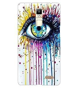 ColourCraft Creative Eye Design Back Case Cover for OPPO R7