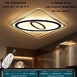 Plafonnier LED 1616–680x 680avec télécommande est la couleur de la lumière/luminosité variable a + Ampoule moderne salon Leuchten Hauteur réglable Argent Landhausstil créatifs lustre Suspension Plafonnier Plafond Spot Plafonnier LED Lampe Suspension Lam