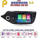 ANDROID 9.0 GPS DVD USB SD WI-FI Bluetooth MirrorLink autoradio 2 DIN navigatore Kia Ceed/Cee'd 2012, 2013, 2014, 2015, 2016