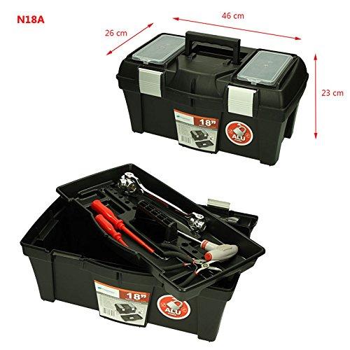 Werkzeugkoffer Werkzeugkasten Sortimentskasten Viper 46x26x23cm Werkzeugbox Angelkoffer Werkzeugkiste Werkzeugtrage Sortimentskiste Kleinteilemagazin Angelkiste Kasten Kiste Box