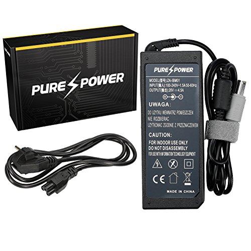 Purepower PURE⚡POWER® Laptop Netzteil für Lenovo ThinkPad T420 4180 mit freie EU Stromkabel (20V, 4.5A, 90, 7.7-5.5)