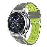 Ansenesna Sport Bracelet Smartwatch Silikon Armband Fitness Tracker Runtastic für Samsung Gear S3 Classic Wasserdicht (Grün 2)