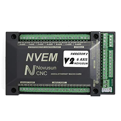 KKmoon 6 Achsen Bewegungssteuerungskarte, NVEM CNC Steuerung 200 KHz  Ethernet Mach3 Motion Control Karte