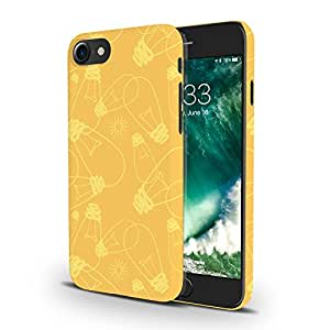 Koveru Designer Printed Protective Snap-On Durable Plastic Back Shell Case Cover for Apple iPhone 7 - Yellow bulbs Pattern