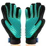 OMORC MEGD031AB-2 2PCS Pet Bürste Handschuh, Haustier Grooming Bürsten Deshedding Glove Massage-Handschuh Pflegenbürste