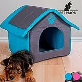Hundehaus / Hundehütte aus Stoff in 49 x 40 x 49 cm mit herausnehmbaren Kissen