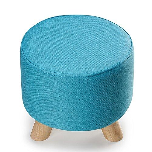 ZXQZ Tabouret en Bois en Forme de Coeur Creative/Tabouret de Porte de Porte/Tabouret de canapé en Tissu européen (4 Couleurs en Option) Repose-Pieds de Stockage (Couleur : Bleu, Taille : 30 * 28cm)