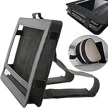 Deer Reed - Funda con soporte para reposacabezas de coche, para reproductor de DVD portátil, soporte giratorio con correa de color negro, 7-9,5pulgadas