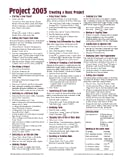Image de Microsoft Project 2003 Creating a Basic Project Quick Reference Guide (Cheat Sheet of Instructions, Tips & Shortcuts - Laminated Card)