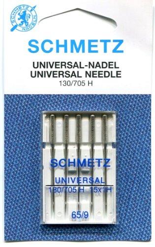 Nähmaschinen Nadeln Schmetz Größe 65, 9, regular (R), Nähen von Germany 5 Nadel, 1 Packung (Nähmaschine, Nadel-größen)