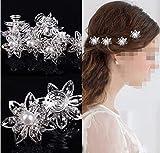 Musuntas 6er Set wunderschöne Sterne Blumen Haarspiralen Haarnadeln aus