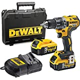 DeWalt 18V 13mm brushless Compact Cordless 5AH, Yellow/Black, dcd791p2-gb