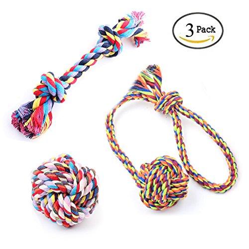 Keysui Treat Ball mit Seil Spielzeug für Hunde & Katzen, Unzerstörbare Dental Treat Bite Resistant -