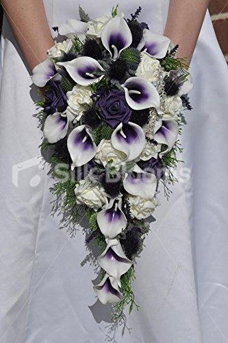 elegante-rustico-purple-tipped-calla-lily-escoces-thistle-w-broche-cascade-ramo-de-novia