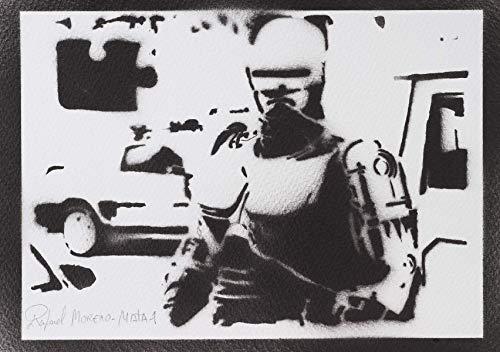 Robocop Poster Plakat Handmade Graffiti Street Art - Artwork