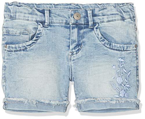 NAME IT Mädchen NKFSALLI DNMABILA 1202 Shorts, Blau (Light Blue Denim), (Herstellergröße: 158) - Mädchen Jeansshorts