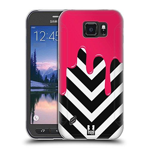 Head Case Designs Chevron Schmelzende Muster Soft Gel Hülle für Samsung Galaxy S6 Active