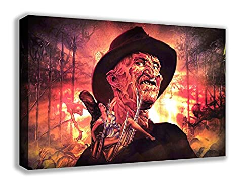 Nightmare On Elm Street Freddy Krueger Horror Leinwand Wand Art, 44X26