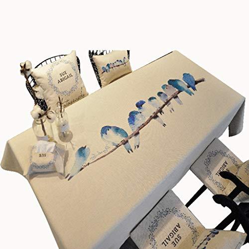 Nappe de table carrée blanche, imperméable et facile à nettoyer RectangleTable Cove   for Home And Outdoor (Couleur : A, taille : 85 * 85CM)