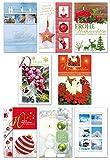 50 Weihnachtskarten Modern Grußkarten Weihnachten Klappkarten mit Umschlägen 220-3209