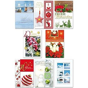 weihnachtskarten set 10 verschiedene motive 40 st ck. Black Bedroom Furniture Sets. Home Design Ideas