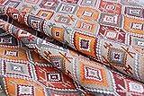 Leinen Lodge Dekostoff Ethno Hippie Muster Baumwolle *** 50 cm x 140 cm ***