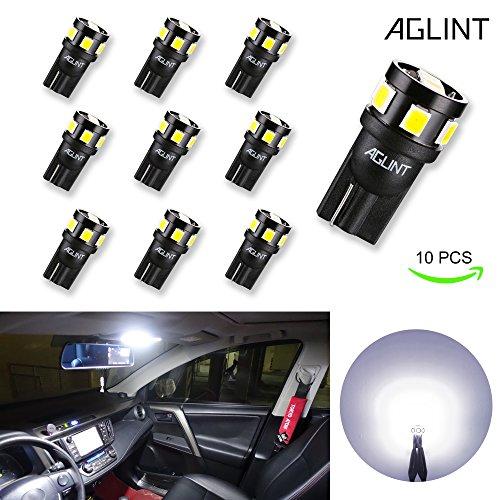 AGLINT T10 LED 194 W5W 2825 Keil Glühbirne für Auto Innenbeleuchtung Kennzeichenleuchte Trunk Light 6000K Weiß 12V Glühbirnen 194