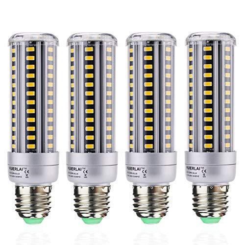 E27 LED Warmweiß 15W Led E27 Mais Birne Ersetzt 120W Glühlampen 1380 Lumen 3000K Led Lampe Beleuchtung Led Leuchtmittel Led Maiskolben 360° Abstrahlwinkel (4er-Pack) by HUIERLAI