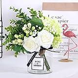 Forma de combinación: flor + jarrón  Colocación de espacio: colocación de flores  tipo de flor de imitación: flor de seda