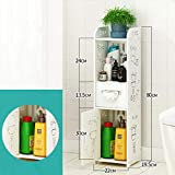 Weiyue Regal- Badezimmer Regalboden Badezimmer Abstellraum Badezimmer Schließfach Badezimmer WC Seitenschrank (größe : A-22X19.5X80cm)