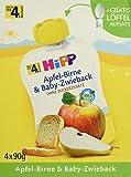 Hipp Apfel-Birne und Baby-Zwieback, 4er Pack (4 x 360 g)